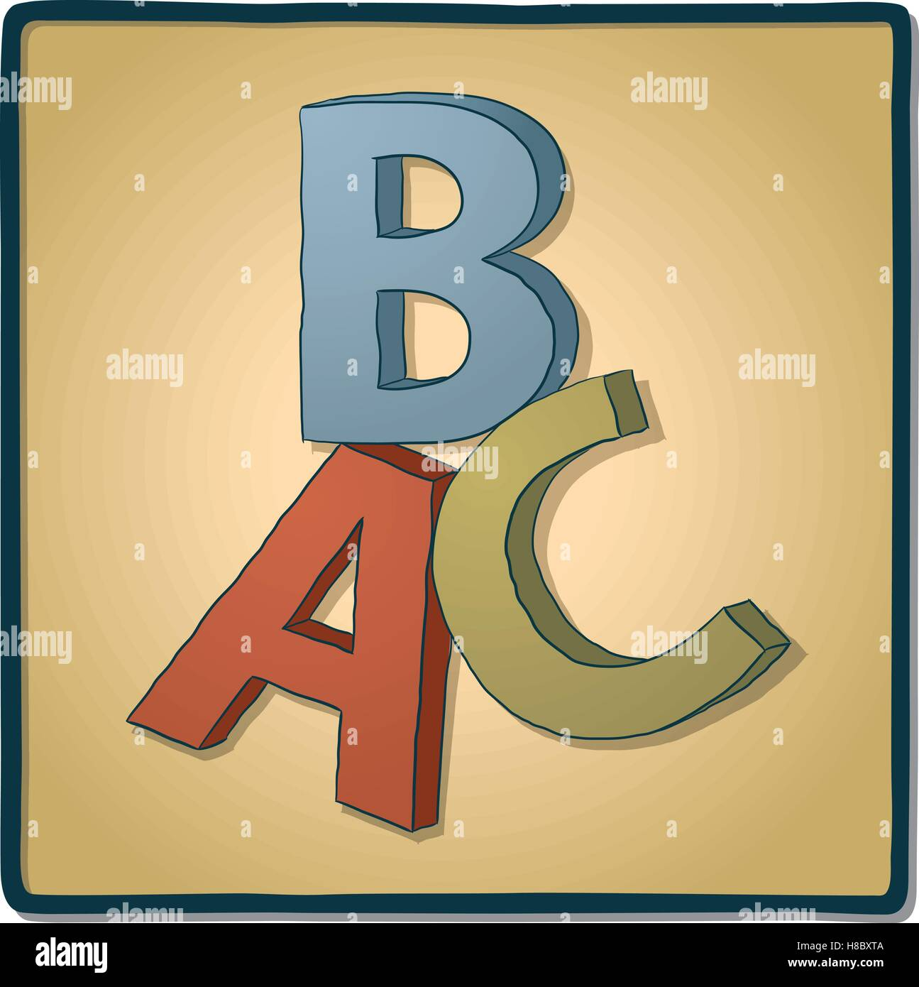 ABC letters - Stock Vector