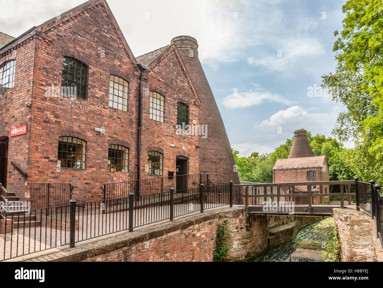 The Coalport China Museum is one of the Ironbridge Gorge Museums based in the village of Coalport within the Ironbridge - Stock Image