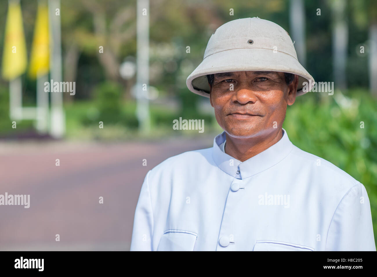 Everyday life of Thai people in Hua Hin Thailand - Stock Image