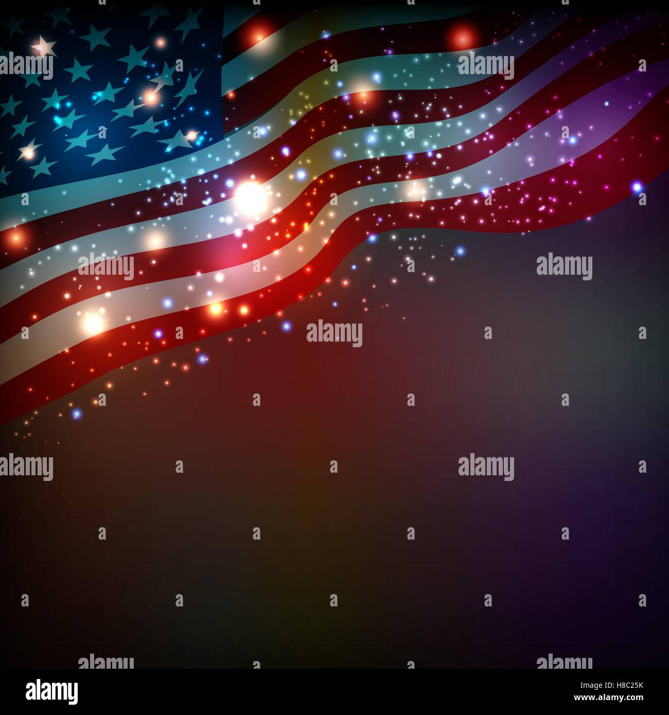 Abstract background for 4th of July Independense Day Stock Vector