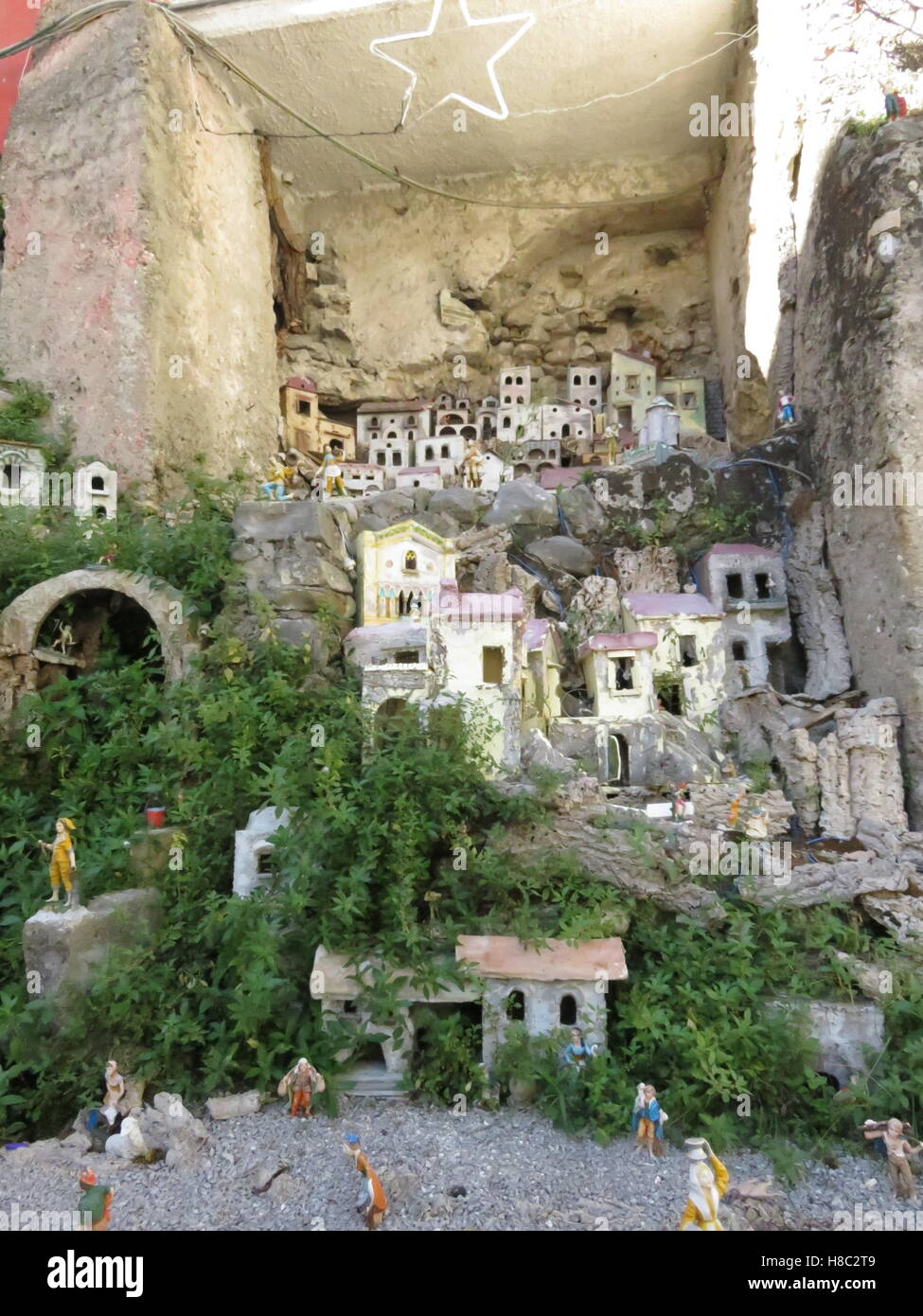 Model village in Amalfi - Stock Image