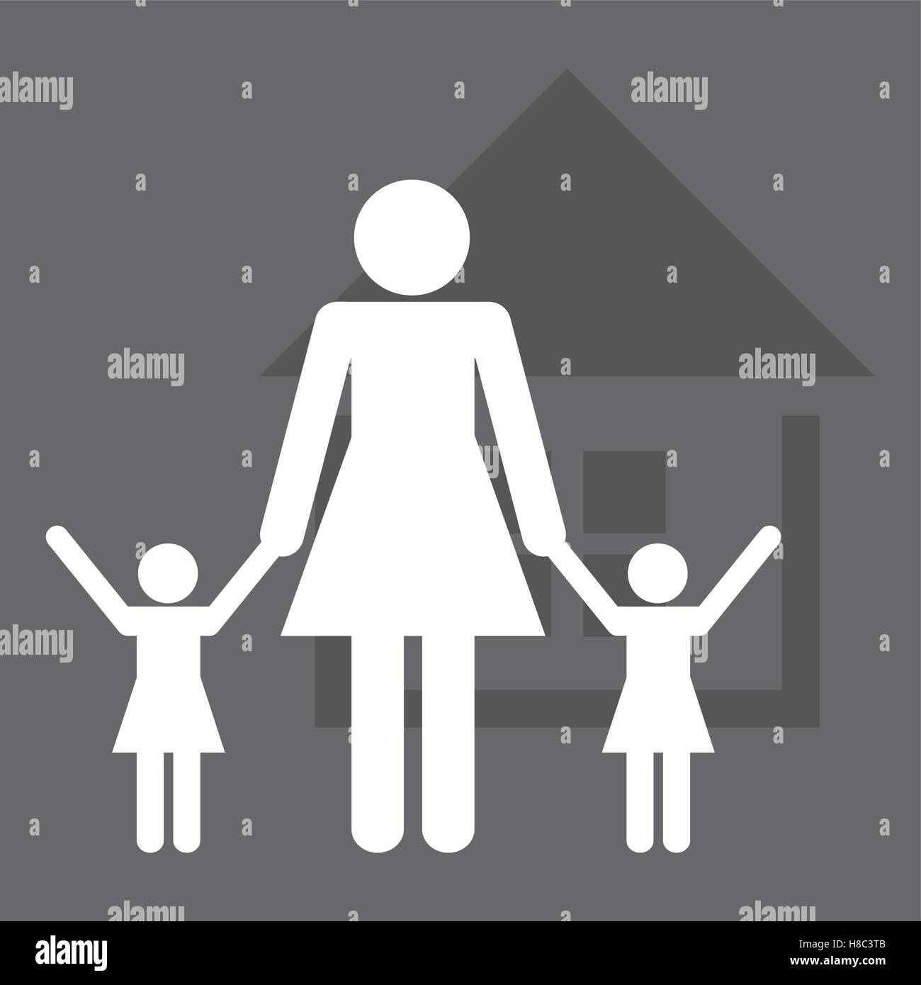 family home relationship - Stock Vector