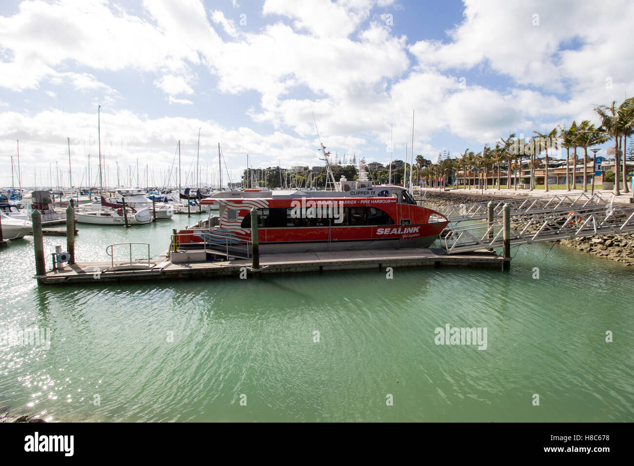Sealink Pine Harbour Ferry Clipper 4 IV at Pine Harbour