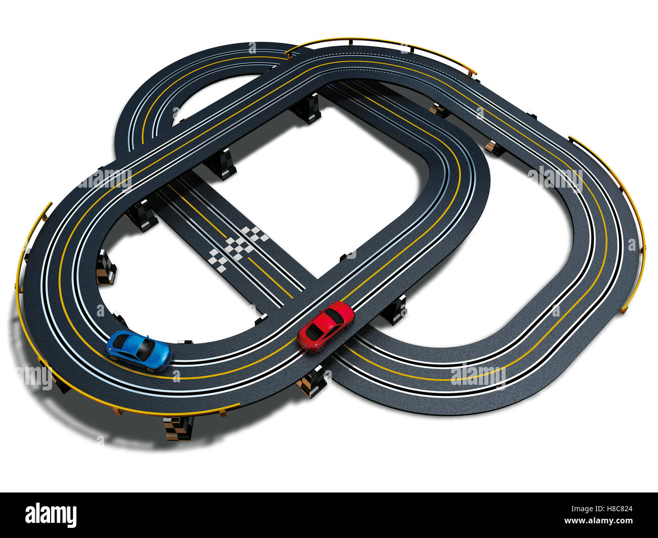 Motor Racing Track Stock Photos Images Wiring Raceway Toy Image