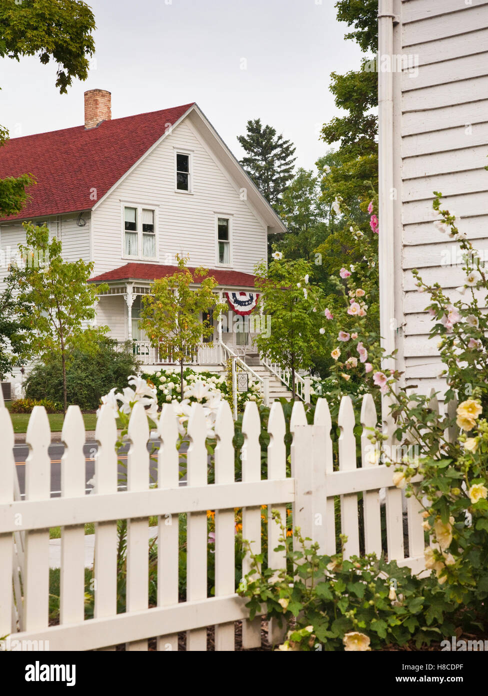 Exterior Of Country Style Clapboard House Door County Wisconsin