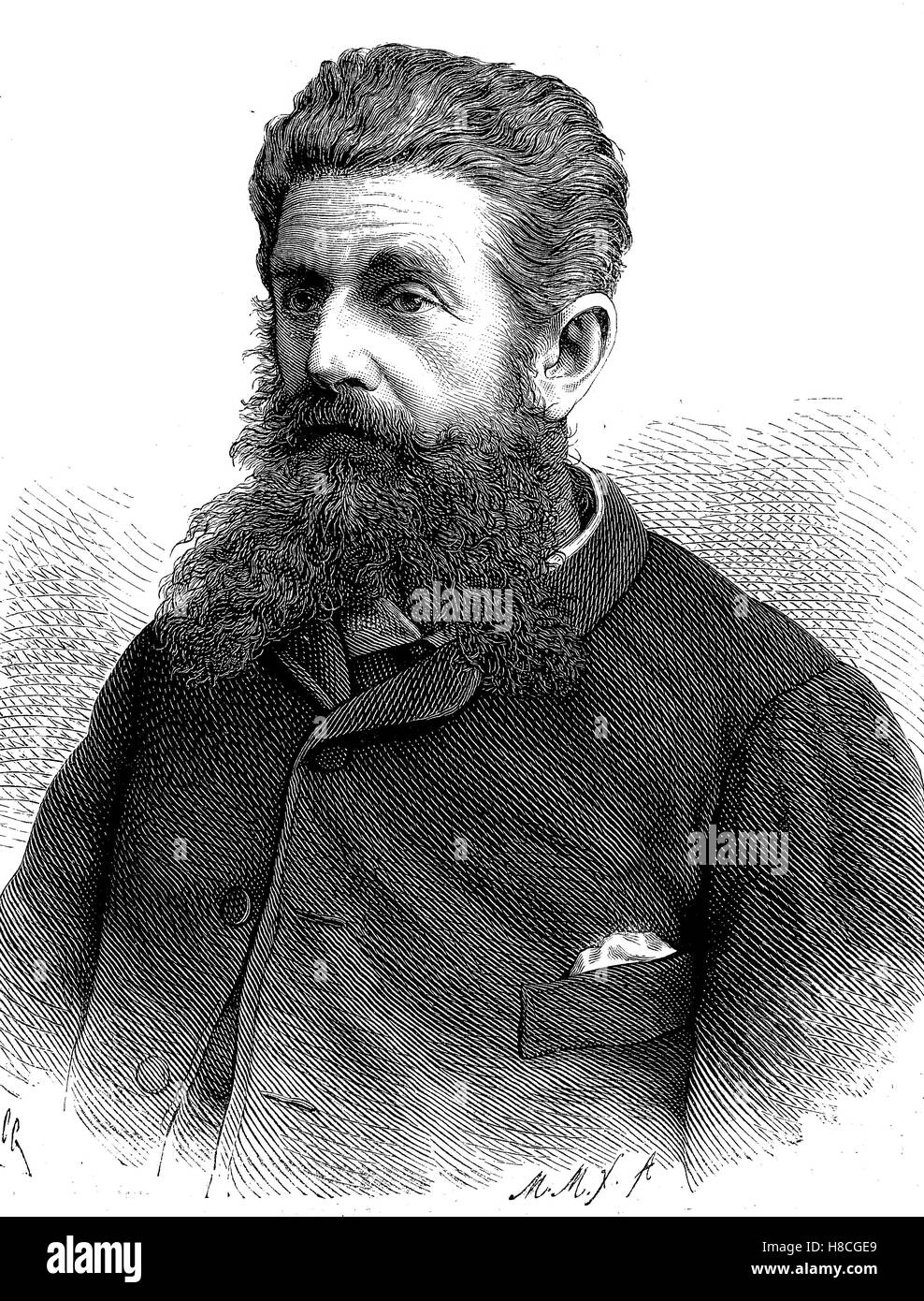Wilhelm Junker, 6 April 1840 - 13 February 1892, was a Russian explorer of Africa. Dr. Junker was of German descent., - Stock Image