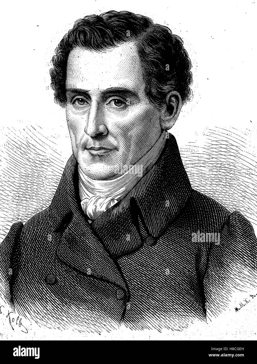 Luigi Cherubini, 8 or 14 September 1760 - 15 March 1842, was an Italian composer who spent most of his working life - Stock Image