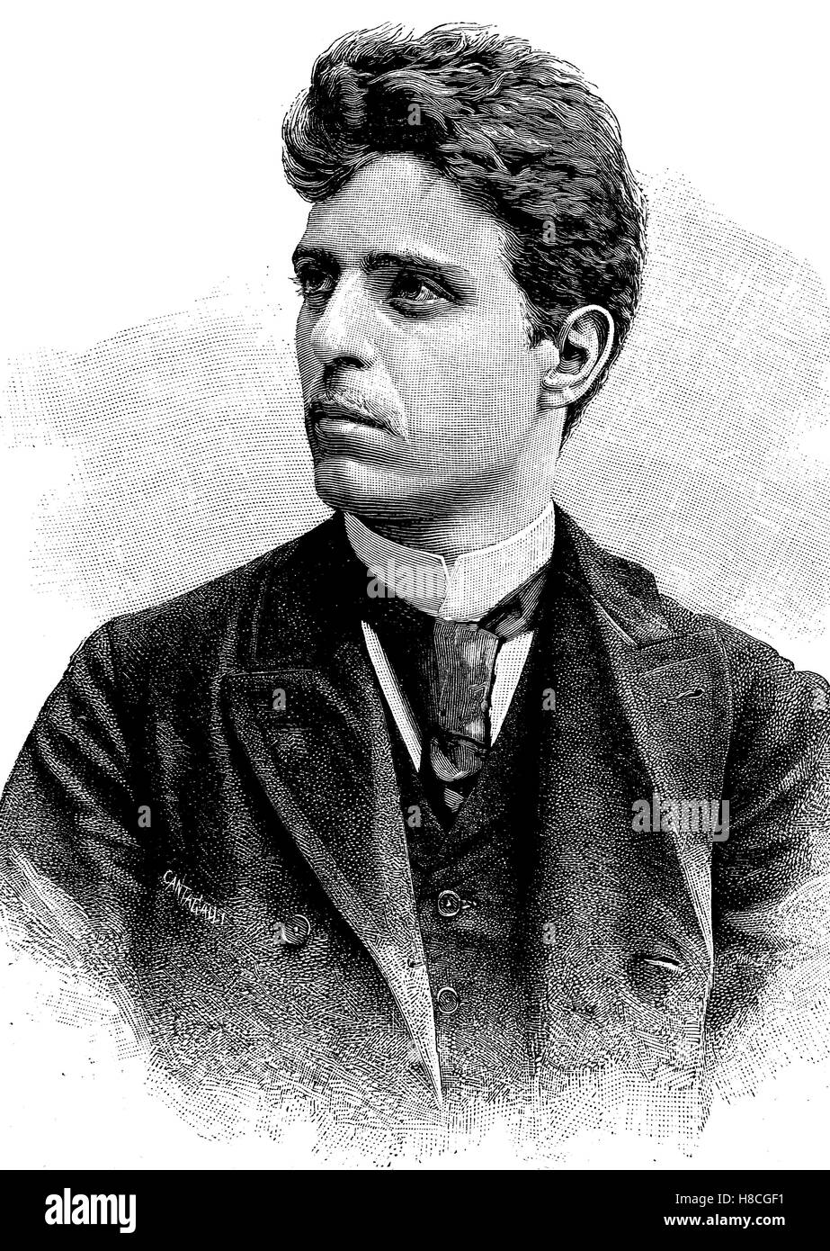 Pietro Antonio Stefano Mascagni; 7 December 1863 - 2 August 1945, was an Italian composer most noted for his operas, - Stock Image