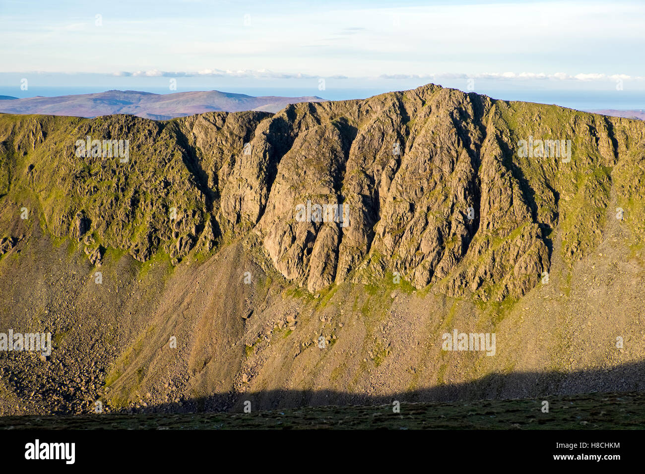 Dow Crag in the Conniston Fells,Lake District,UK, seen from Conniston Old Man - Stock Image