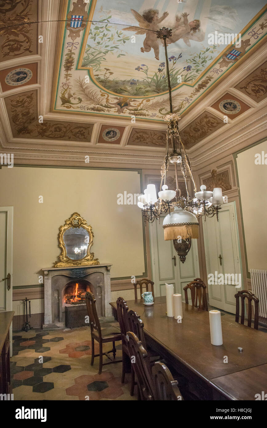 Interior Of A Tuscan Villa With Trompe L Oeil Painted Ceilings And