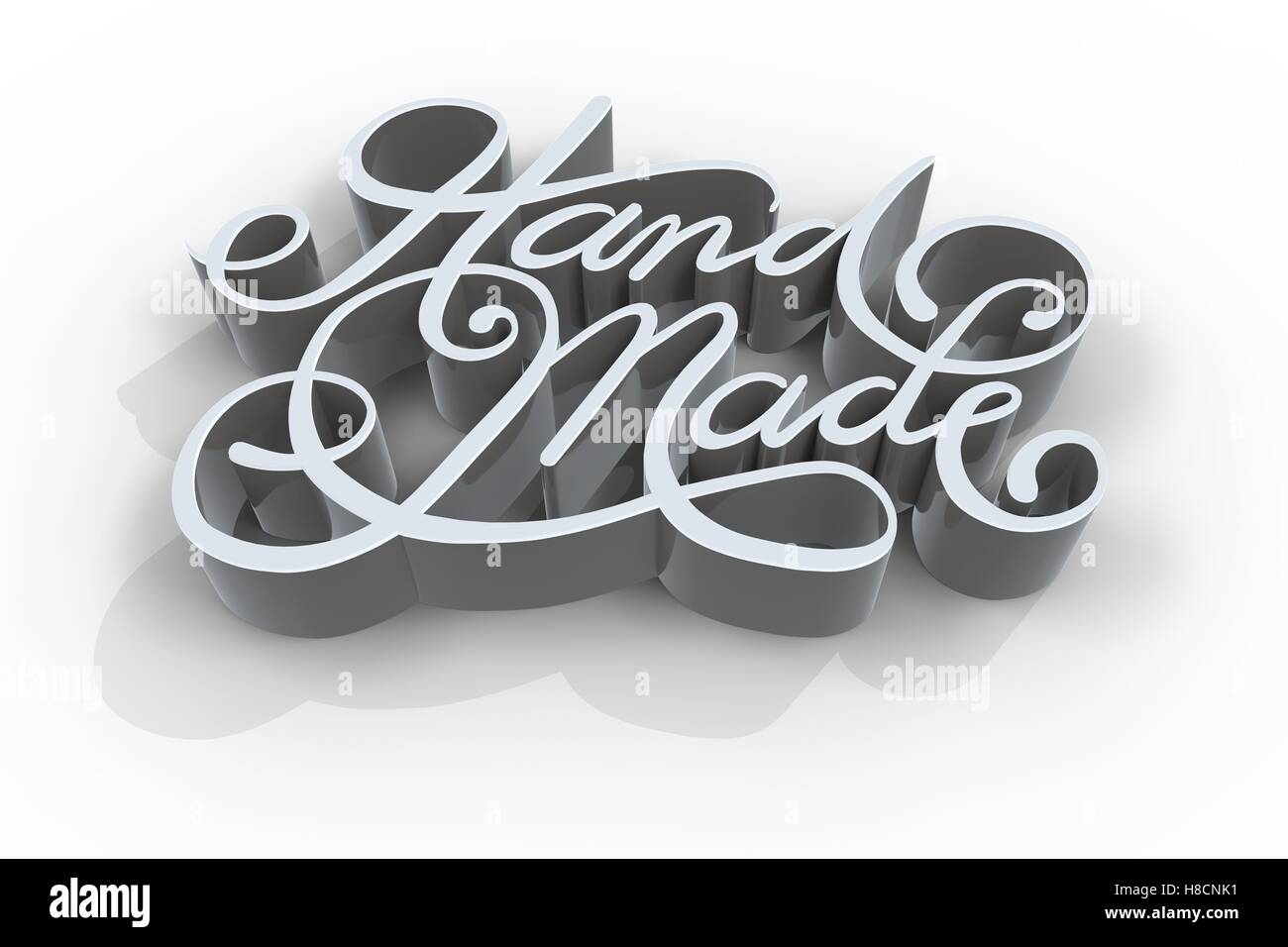 Three dimensional of hand made text - Stock Image