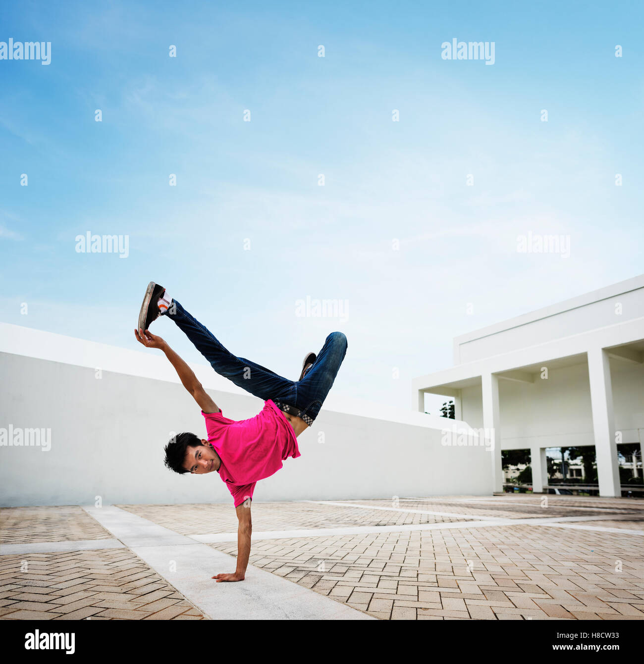 Breakdance Movement Teenagers Trendy Lifestyle Concept - Stock Image