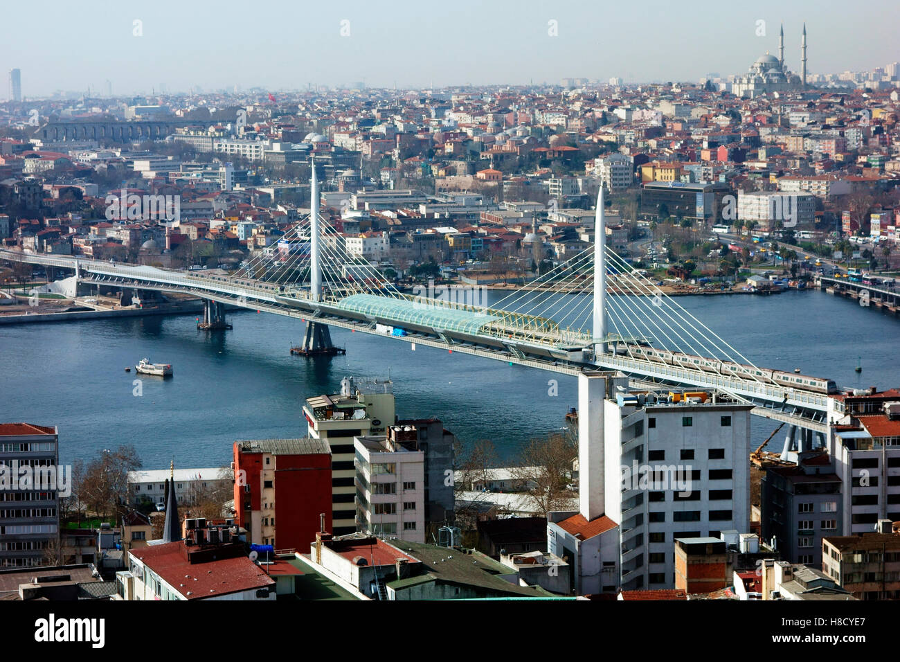 Golden Horn Metro Bridge - Stock Image