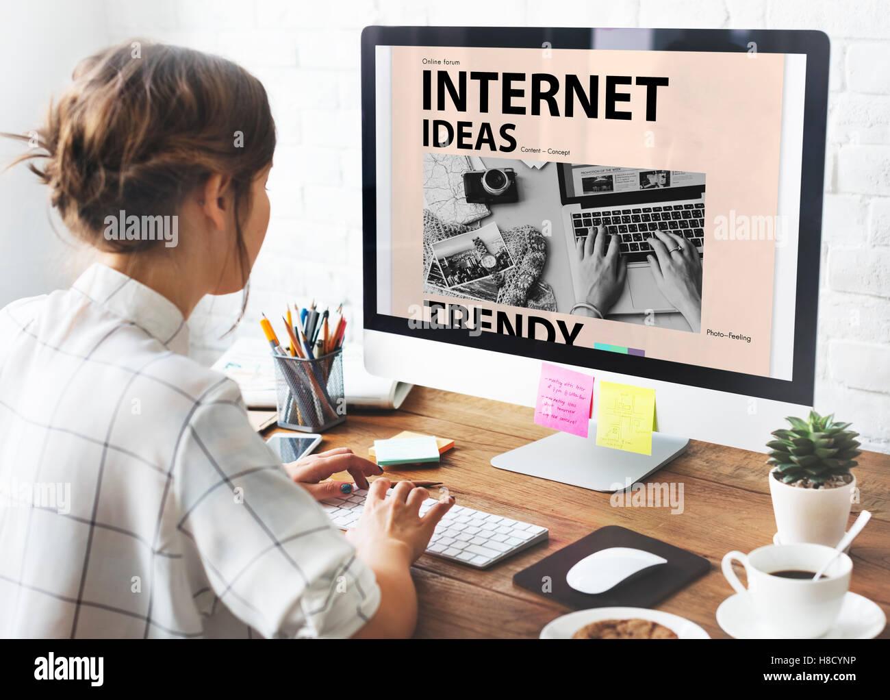 Social Media Blog Ideas Concept - Stock Image