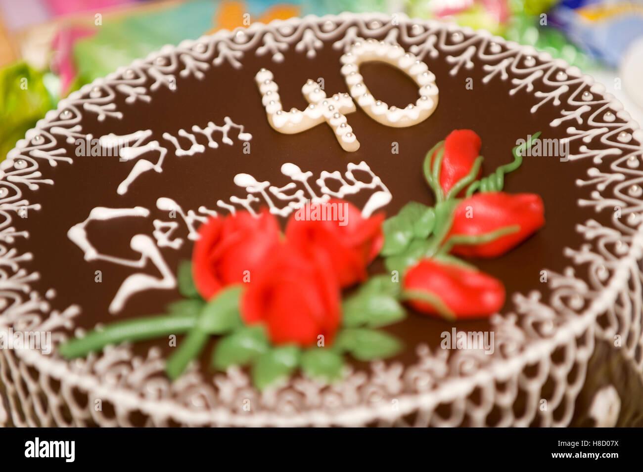 40th Birthday Cake Stock Photos Images