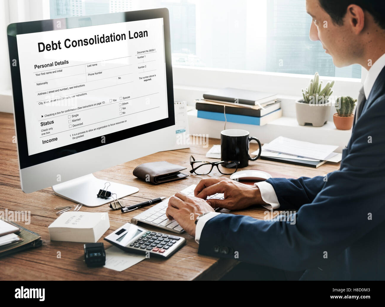 Debt Consolidation Loan Financial Concept - Stock Image