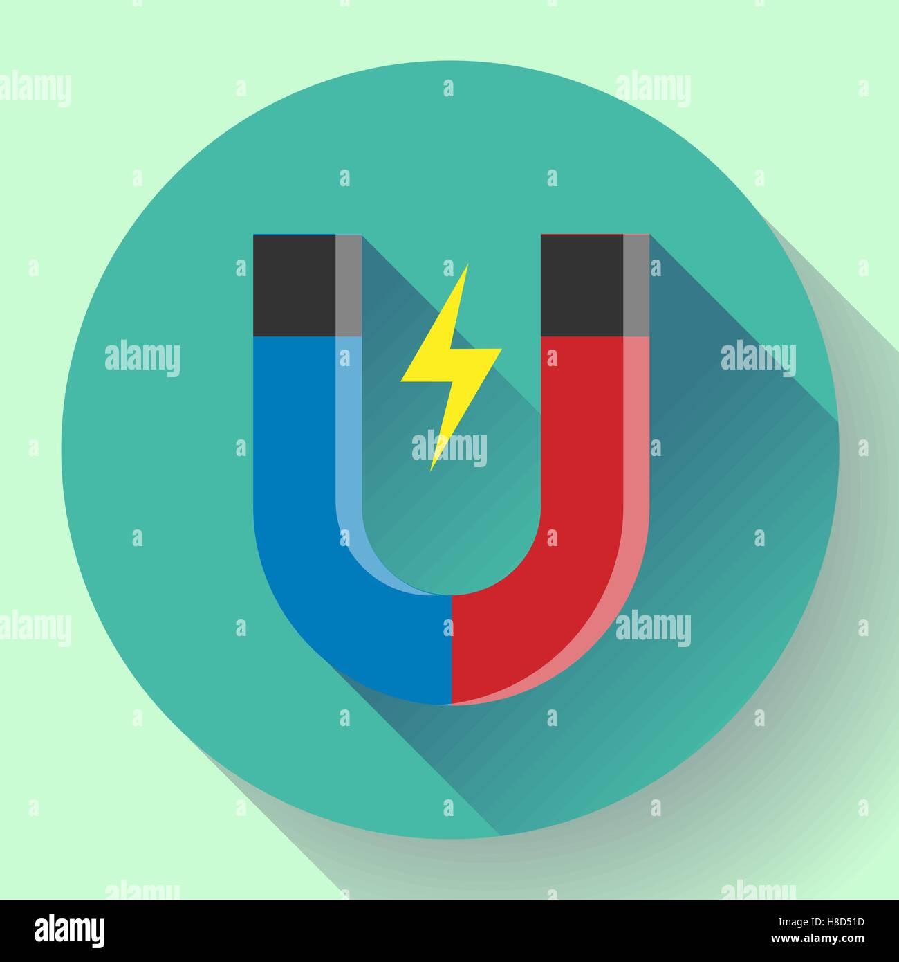 Vector icon horseshoe magnet. Symbol magnetism magnetizing Stock ...