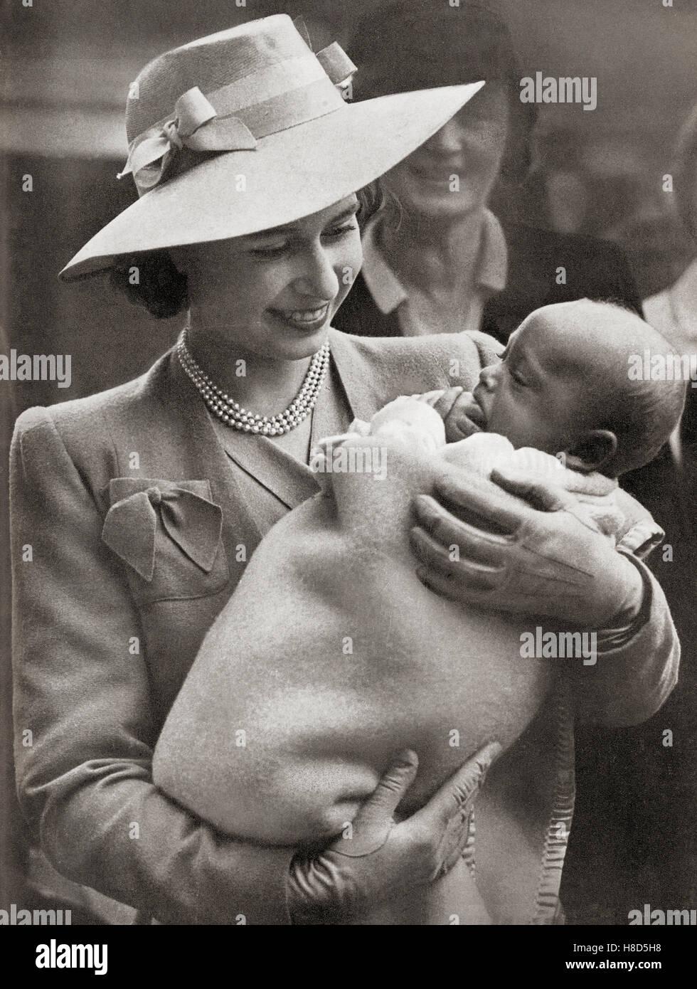 Princess Elizabeth, future Elizabeth II, born 1926.  Queen of the United Kingdom, Canada, Australia and New Zealand. - Stock Image