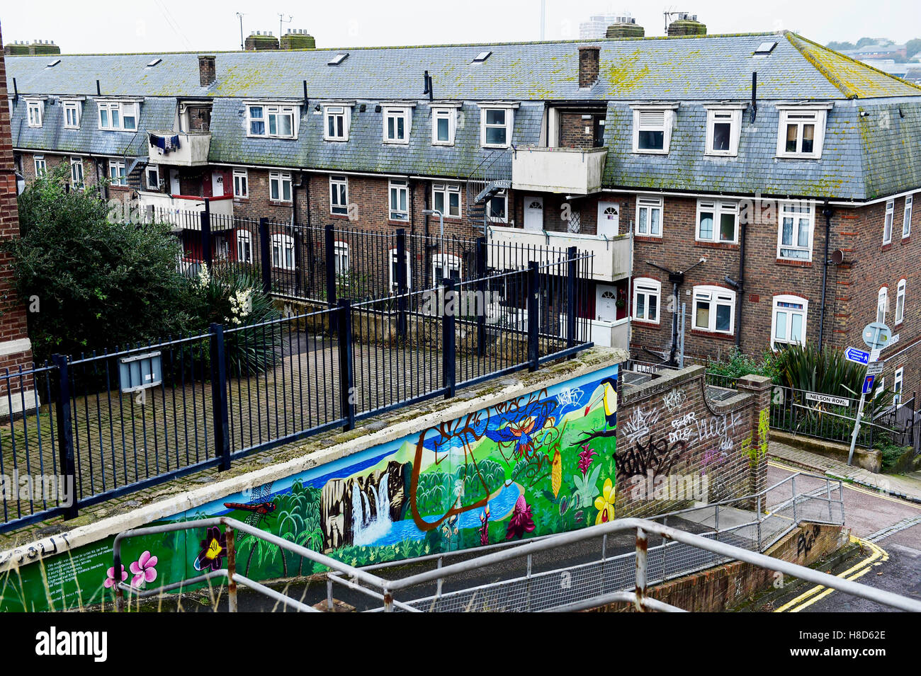 Brighton council flats Milner estate UK Stock Photo