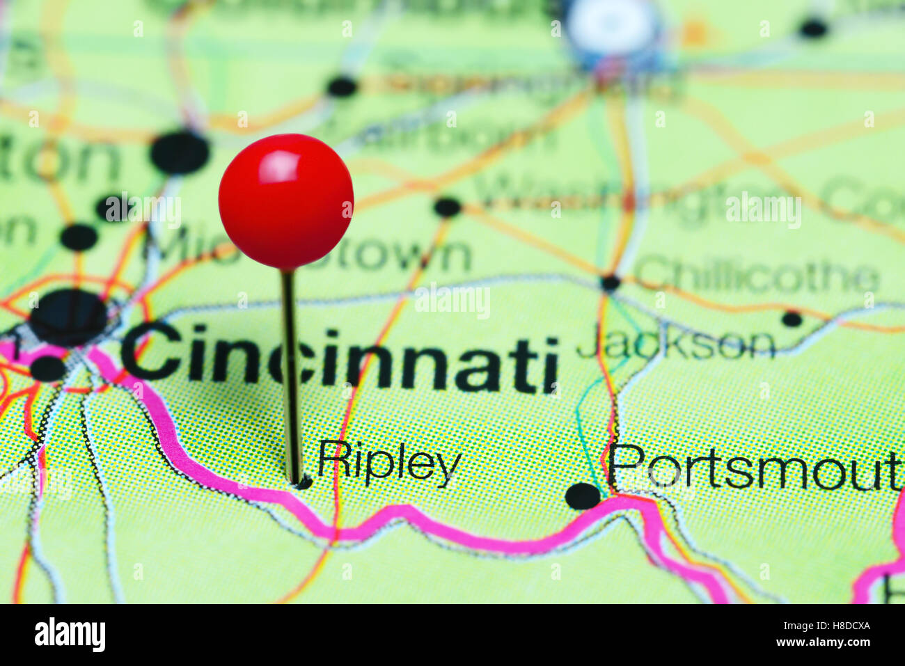 Ripley Ohio Map.Ripley Pinned On A Map Of Ohio Usa Stock Photo 125685346 Alamy