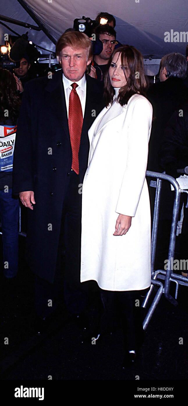 Jan. 1, 2011 - 2/5/01 New York City.Donald Trump and Knauss, Melania .''Hannibal'' Premiere at the - Stock Image