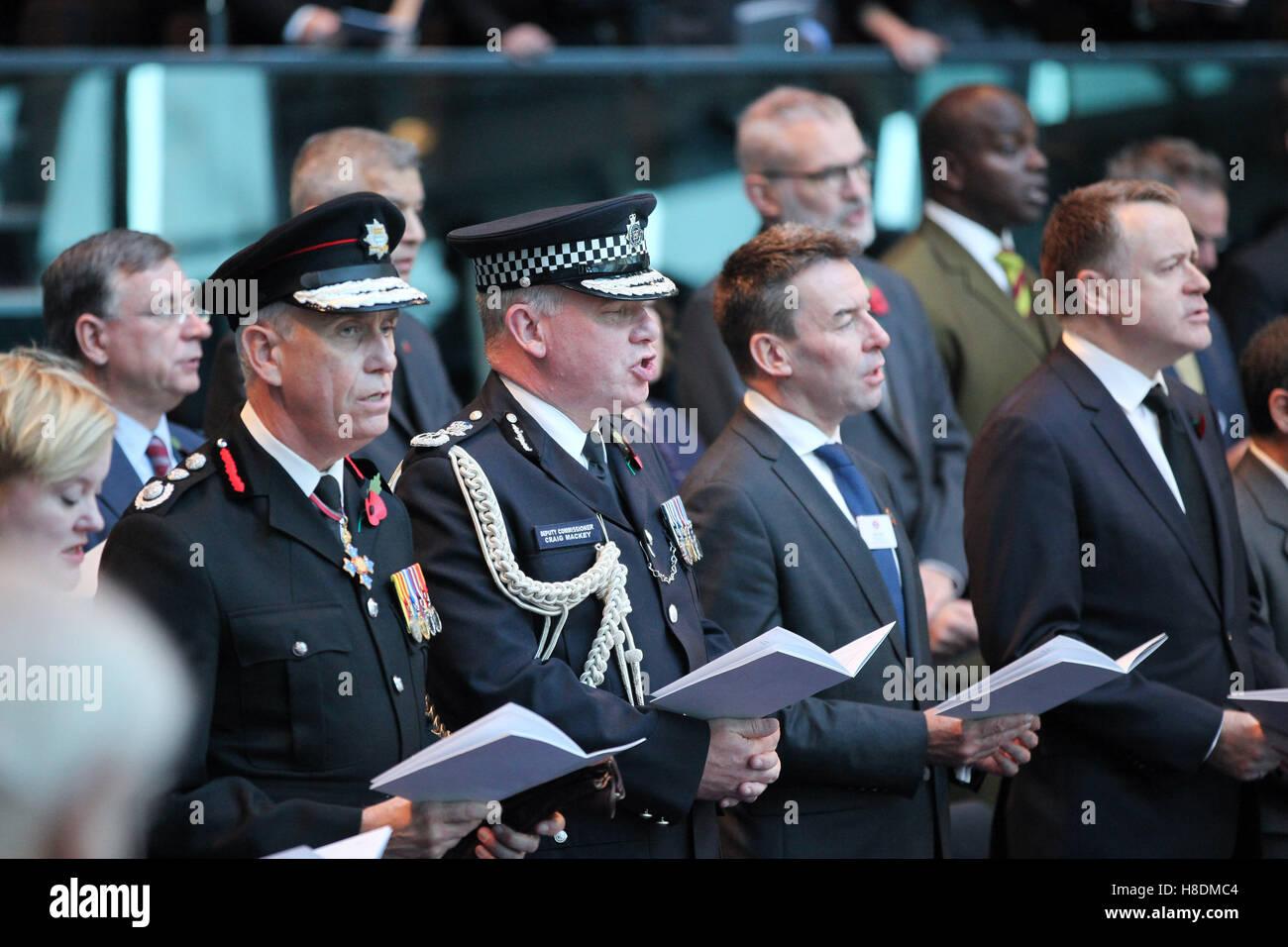 City Hall, London 11 Nov 2016 The Mayor of London, Sadiq Khan, Chairman of the London Assembly, Tony Arbour, London Stock Photo
