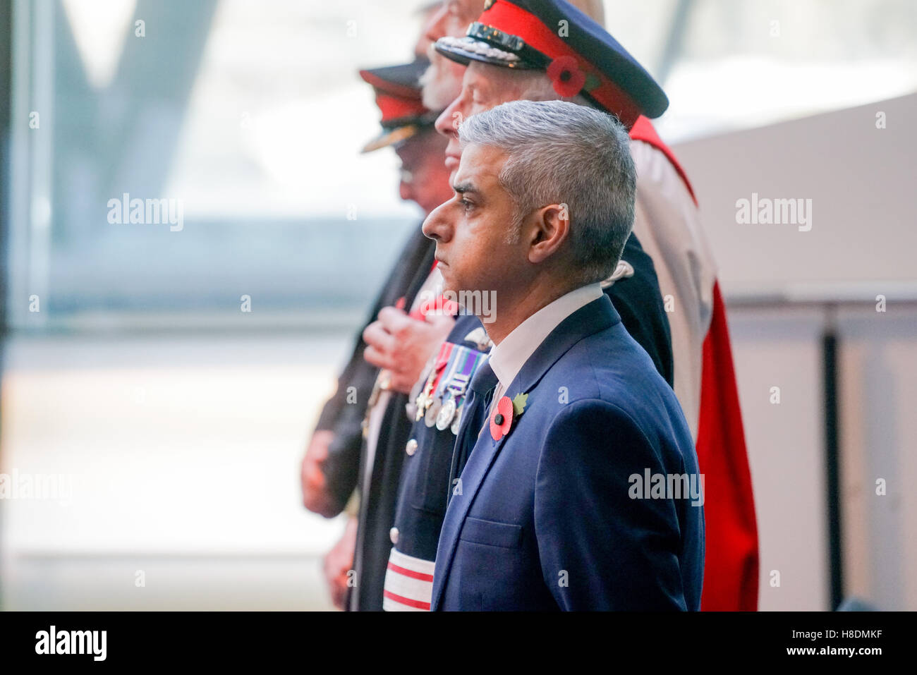 London, UK. 11th Nov, 2016. The The Mayor of London, Sadiq Khan, and Chairman of the London Assembly, Tony Arbour, - Stock Image