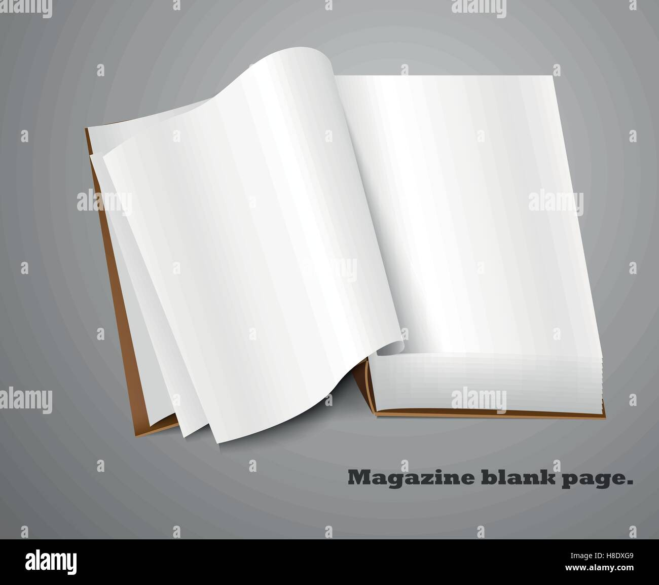 Magazine Spread Stock Vector Images Alamy