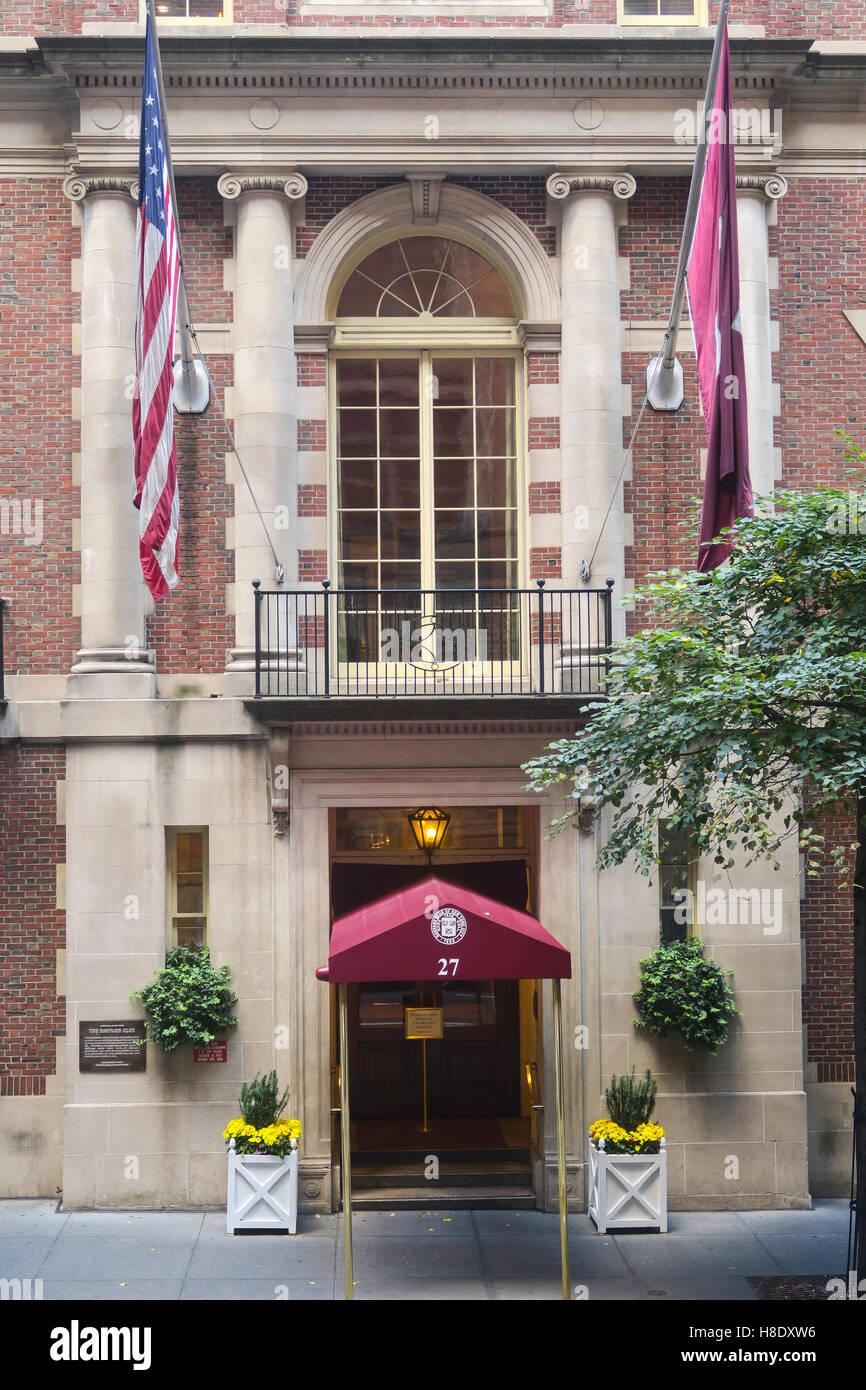 The Harvard Club of New York City - Stock Image