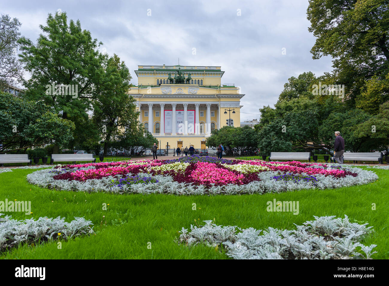 Alexandrinsky Theater also known as Russian State Pushkin Academy Drama Theater - Stock Image