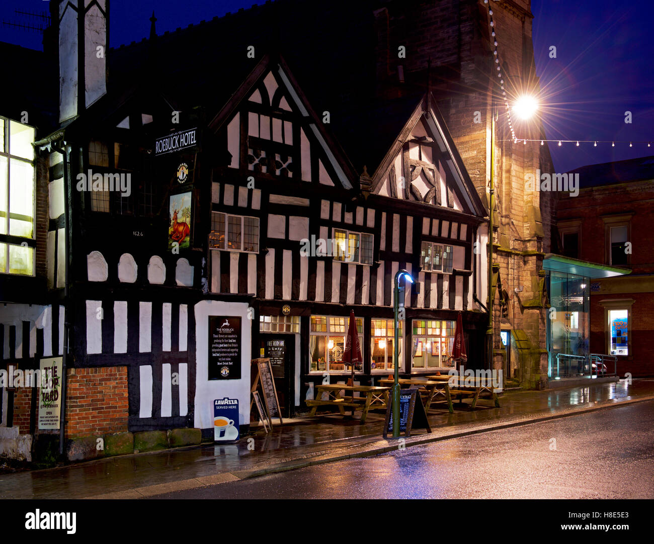 The Roebuck pub, Leek, Staffordshire, England UK - Stock Image