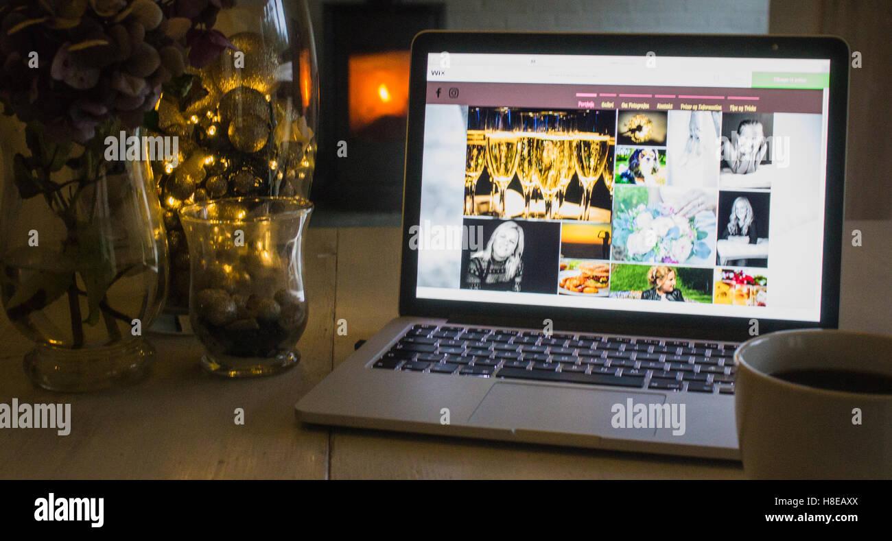 My homepage. Shot in Denmark - Stock Image