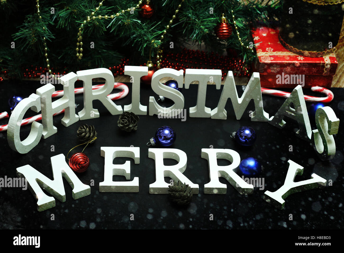 christmas letter decoration stock image - Christmas Letter Decorations
