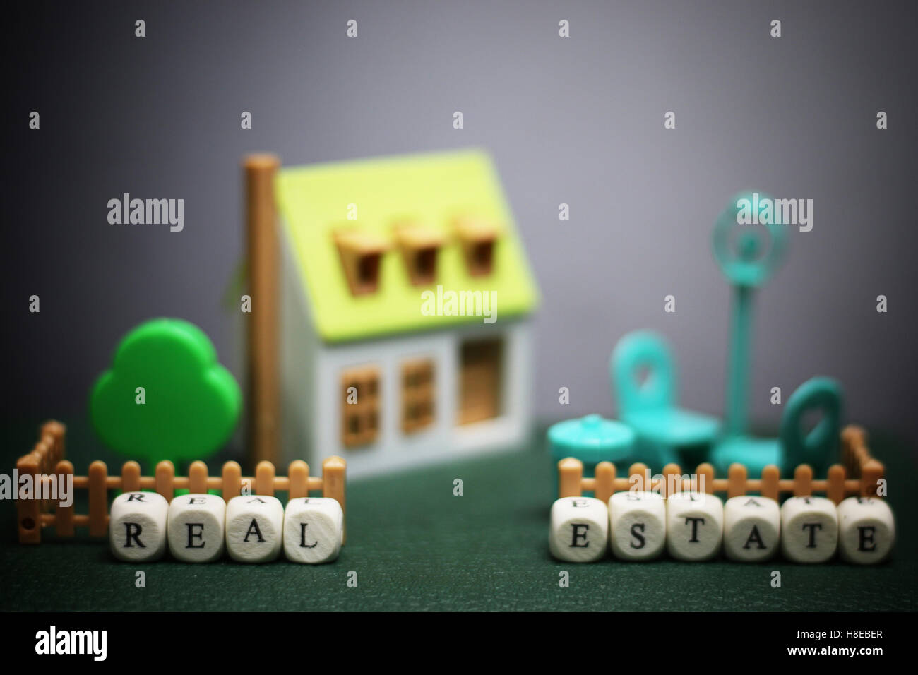house real estate model - Stock Image