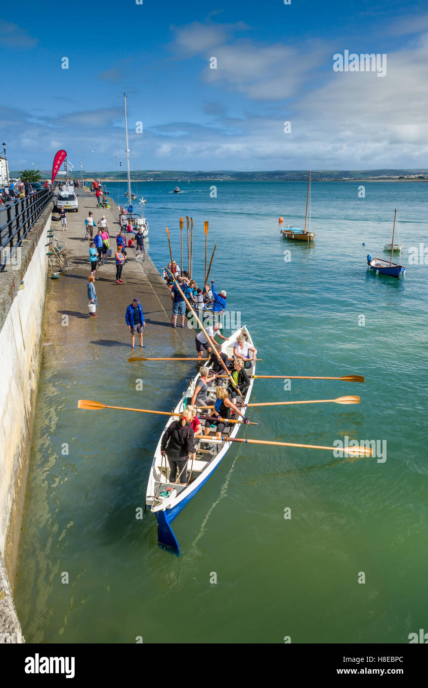 Appledore Gig Team - Stock Image