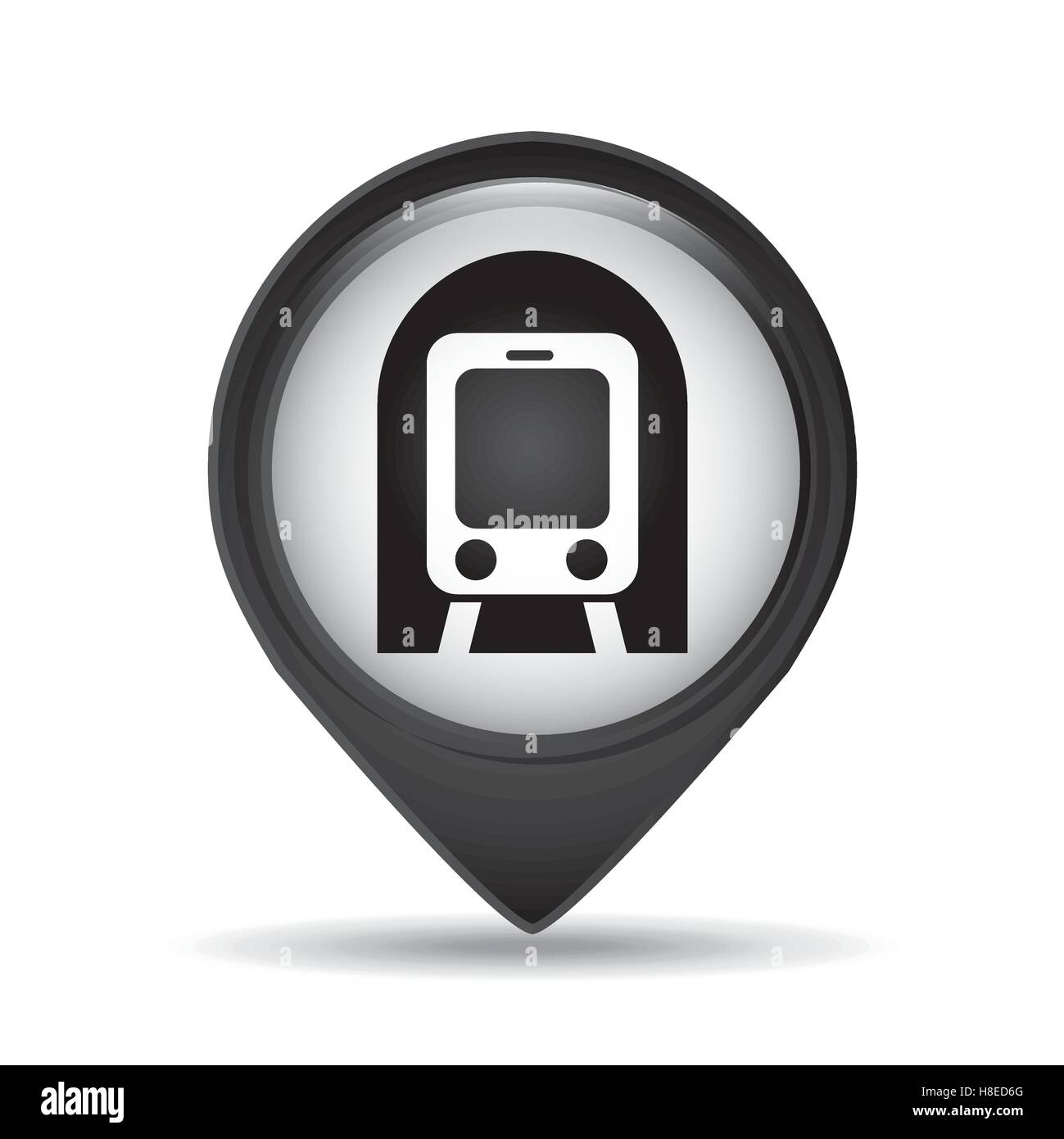 Aiport Icon Subway Map.Symbol Metro Train Pin Map Icon Vector Illustration Eps 10 Stock