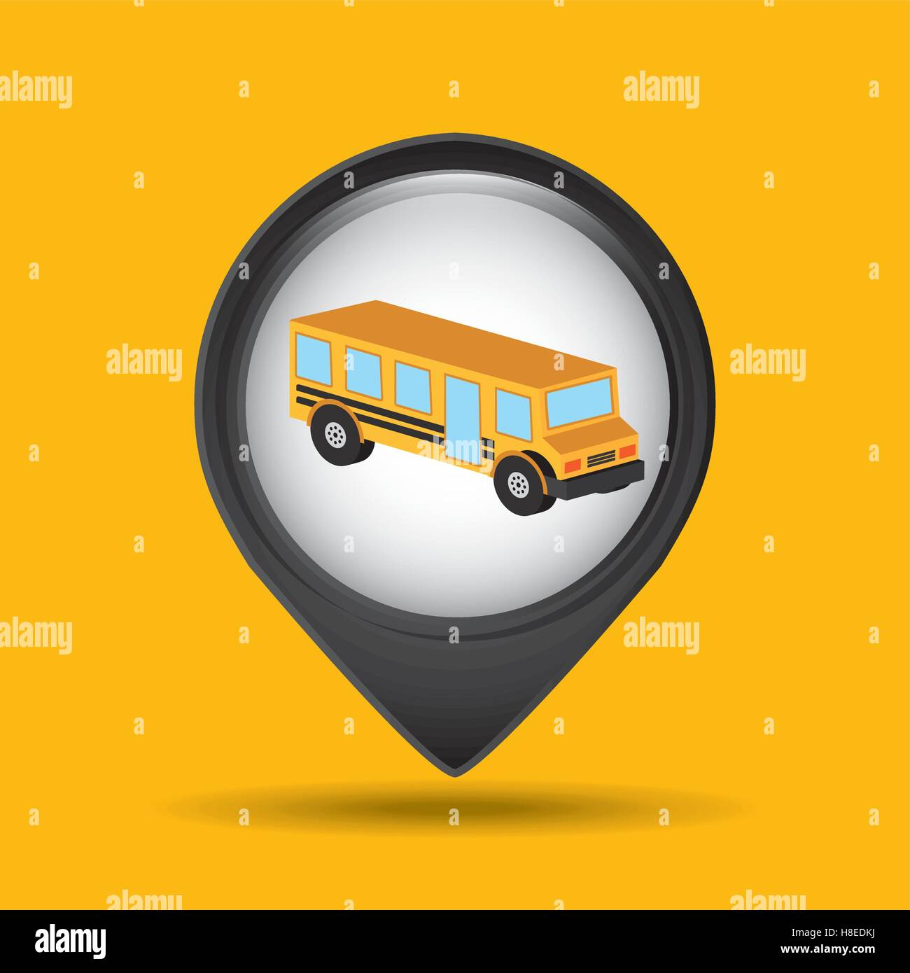 bus yellow school icon design vector illustration eps 10 - Stock Image