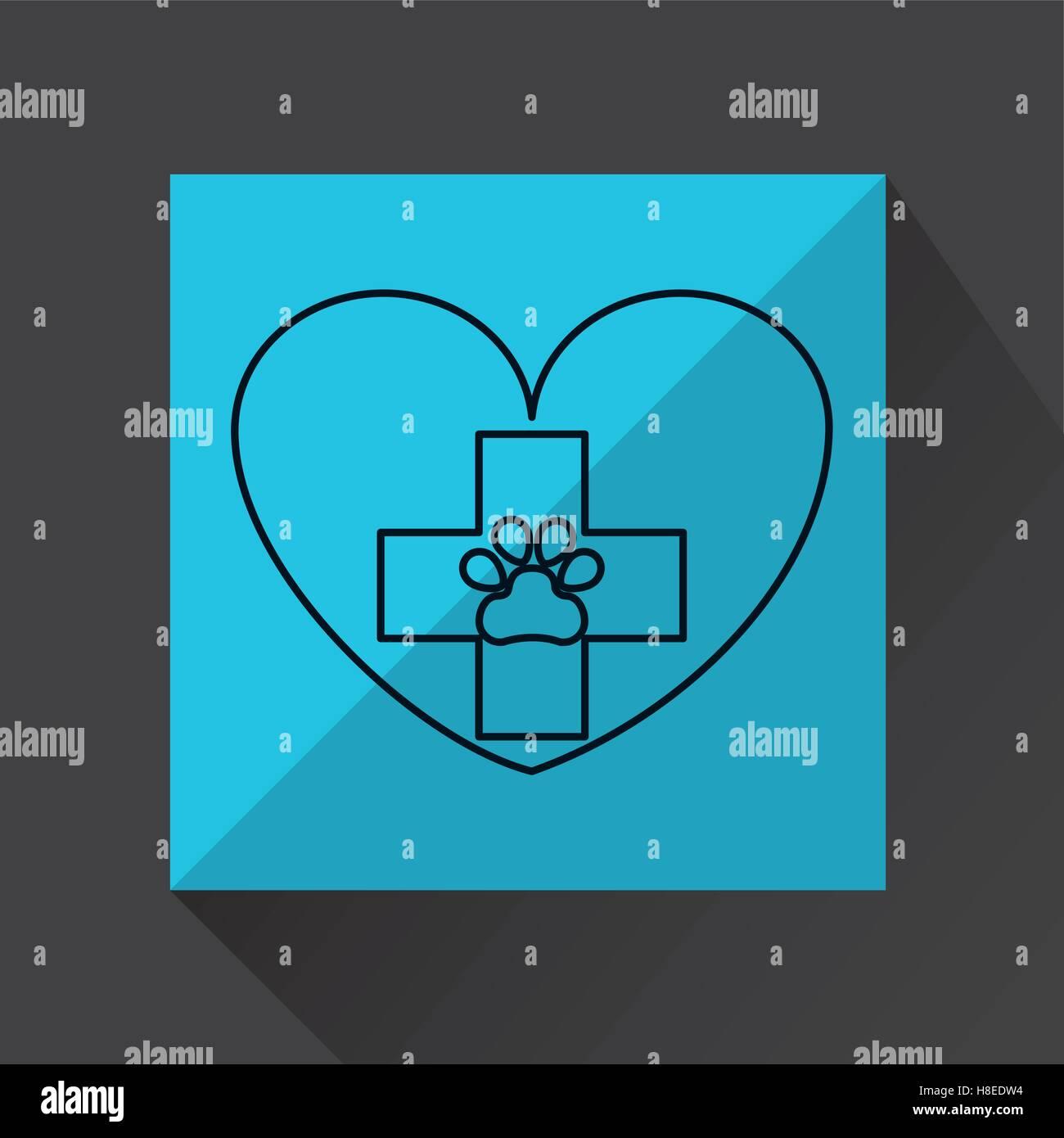 animal hospital care icon vector illustration eps 10 - Stock Image