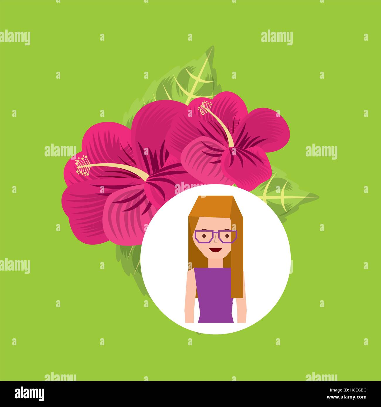 Girl pink lily cartoon ornamental flower vector illustration eps 10 girl pink lily cartoon ornamental flower vector illustration eps 10 izmirmasajfo