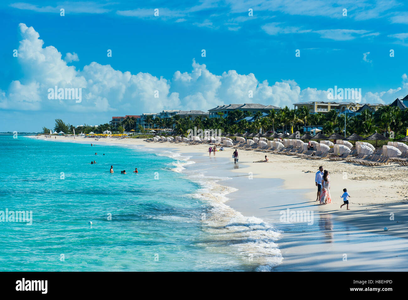 Beach of Beaches resort, Providenciales, Turks and Caicos, Caribbean, Central America - Stock Image