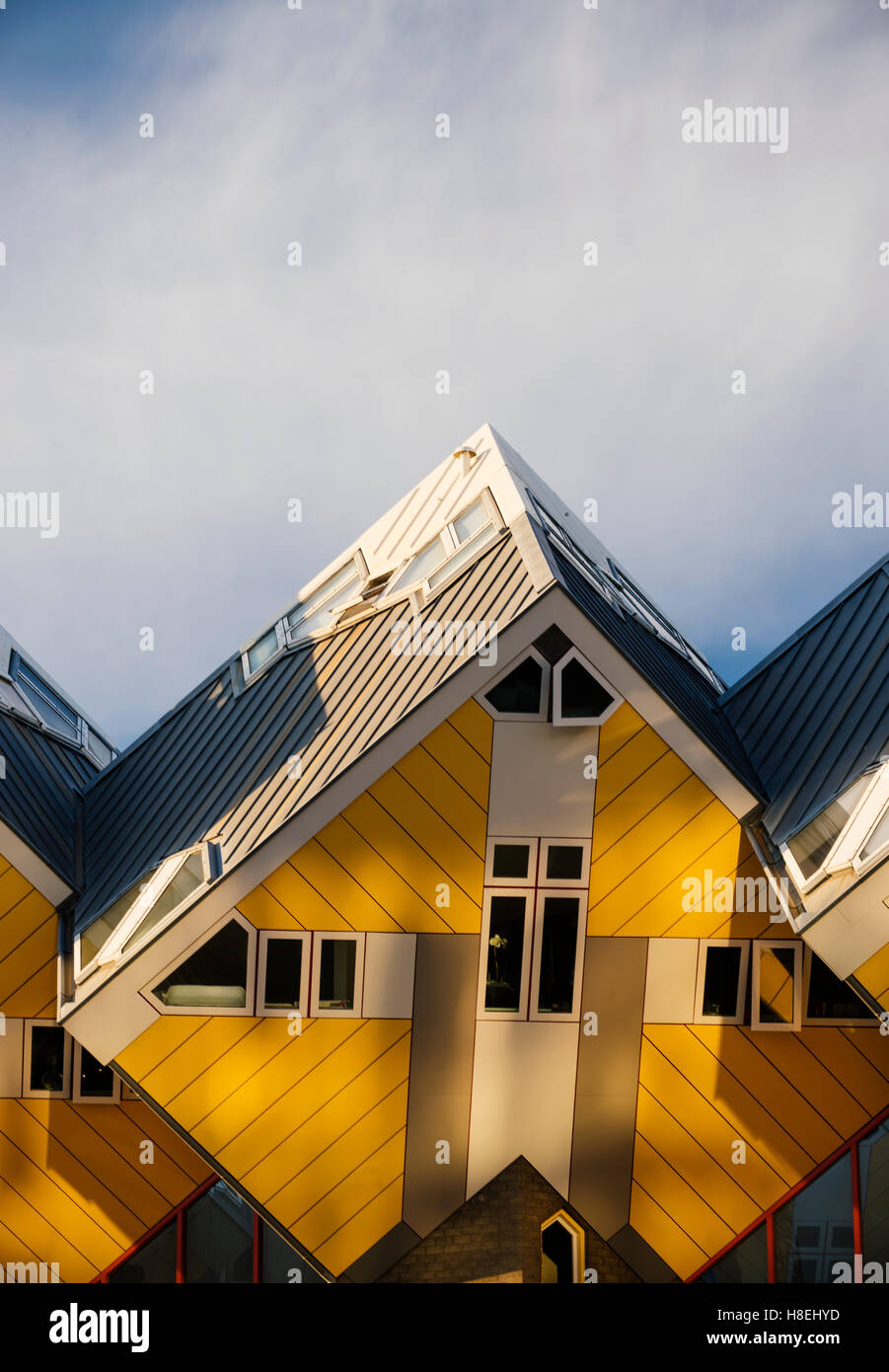 Blaakse Bos, Cube Houses, Oudehaven, Rotterdam, Netherlands, Europe - Stock Image