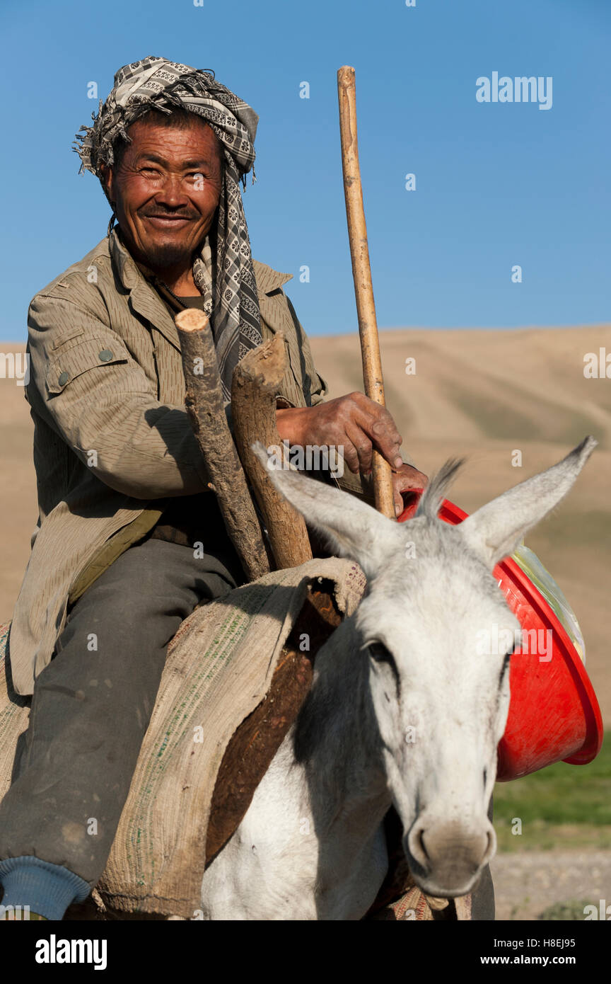 An Afghan farmer smiles for the camera in Bamiyan Province, Afghanistan, Asia Stock Photo