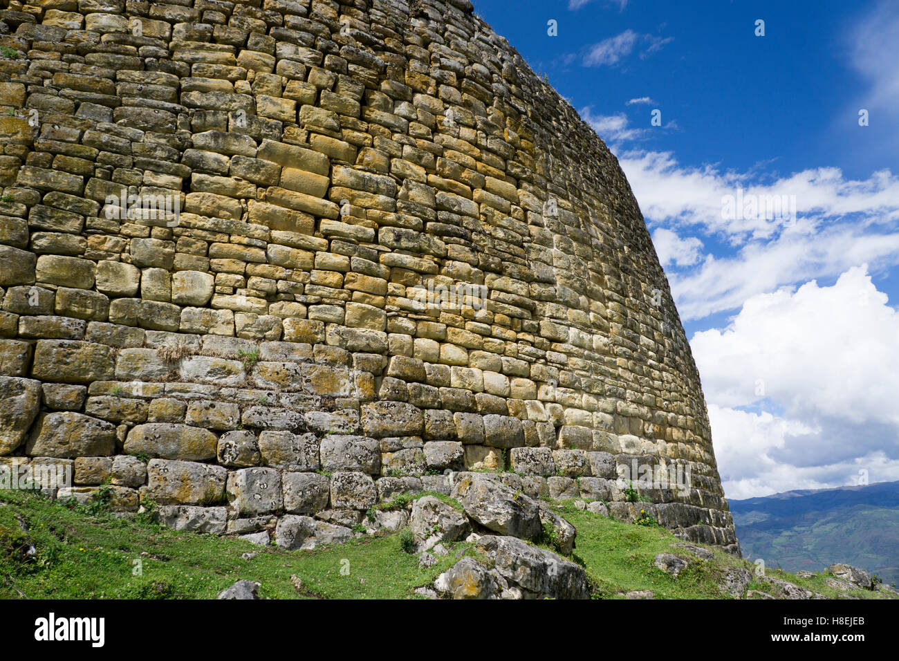 Kuelap, precolombian ruin of citadel city, Chachapoyas, Peru, South America - Stock Image