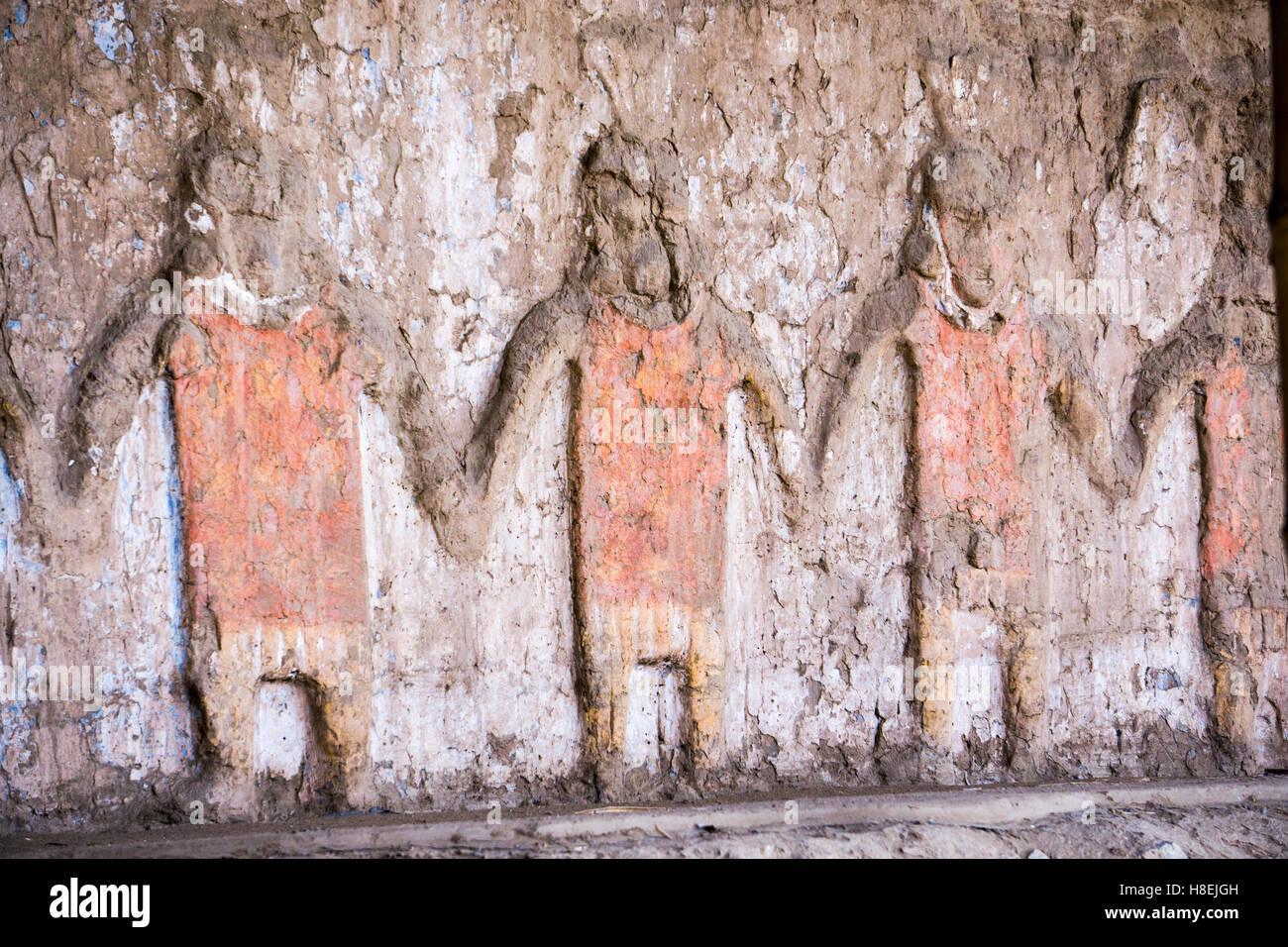 Huaca del Sol y de la Luna, Moche civilisation, Peru, South America - Stock Image