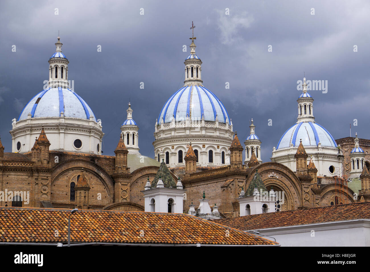 Cuenca cathedral, Cuenca, UNESCO World Heritage Site, Ecuador, South America - Stock Image