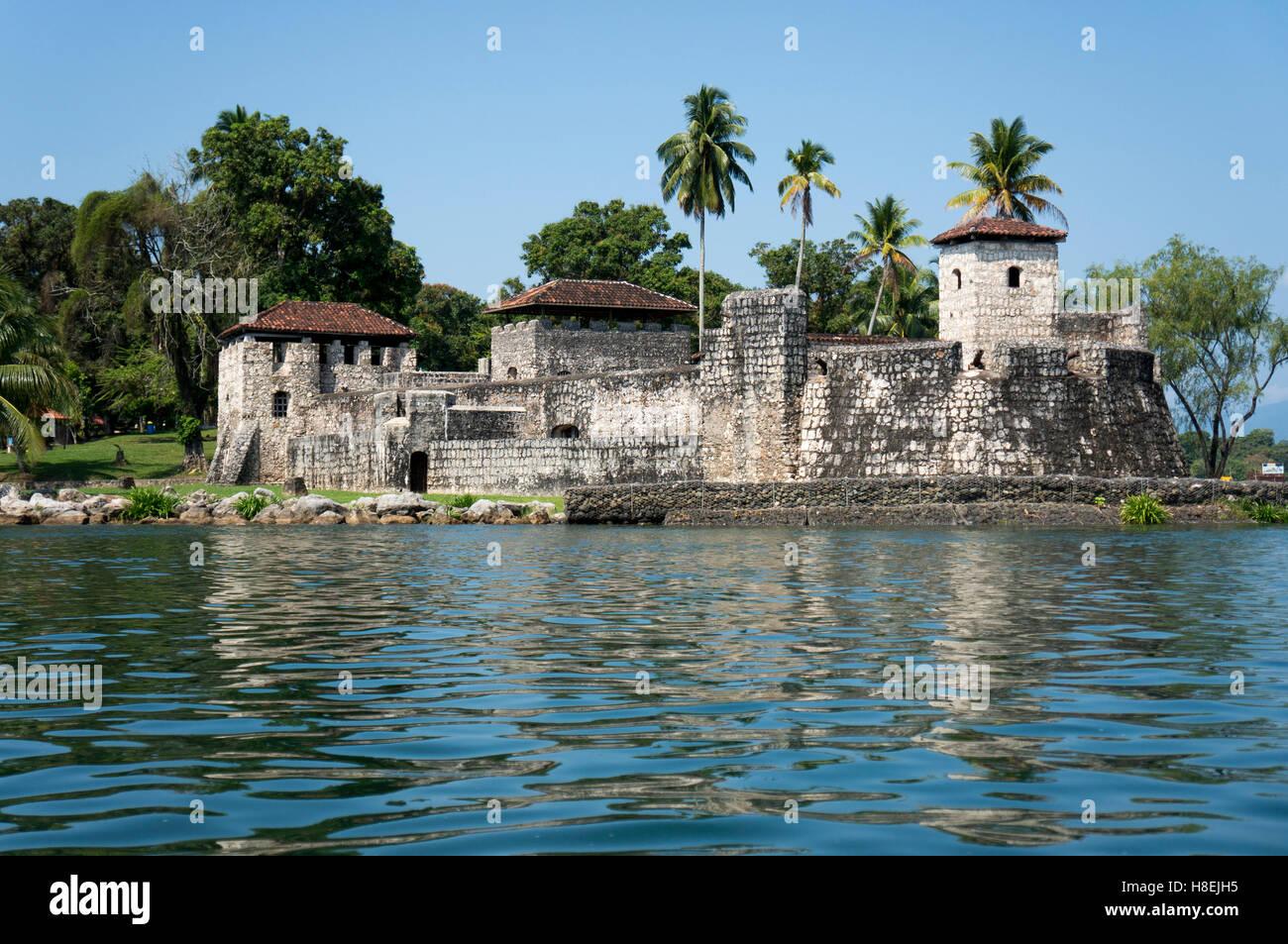 Fort San Felipe De Lara Rio Dulce Guatemala Central America Stock