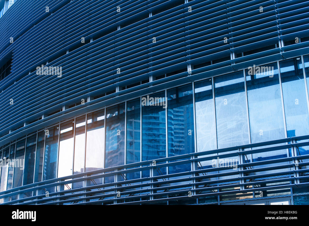 Beautiful Architecture Of Office Building In Blue Stock Photo