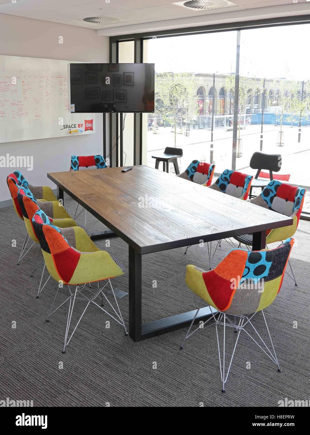 Trendy Meeting Room In The New Ibis Hotel In Cambridge Uk Shows