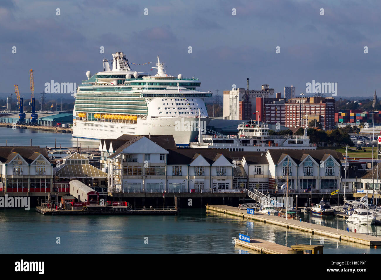 Navigator of the Seas moored in Southampton, u.k. - Stock Image