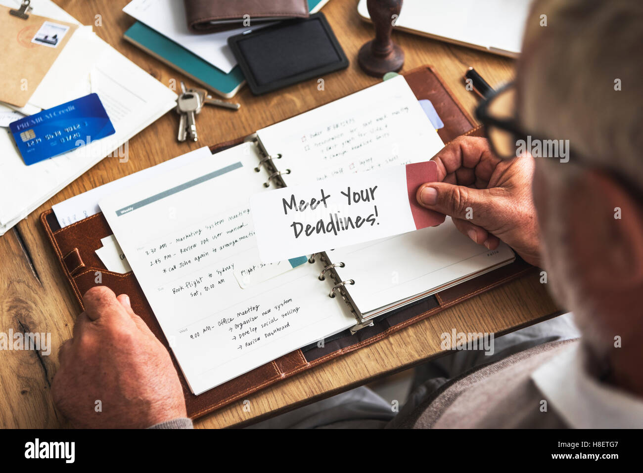 Meet Your Deadlines Appointment Events Concept - Stock Image